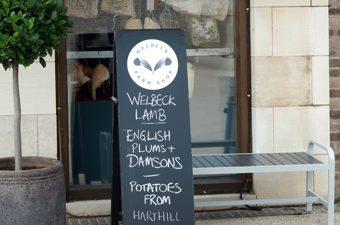 Welbeck Farm Shop Front