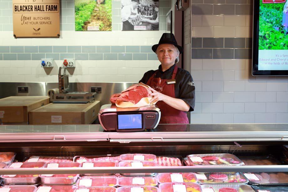 Farm shop butchery counter