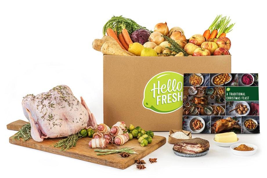 Hello fresh box with fresh chicken