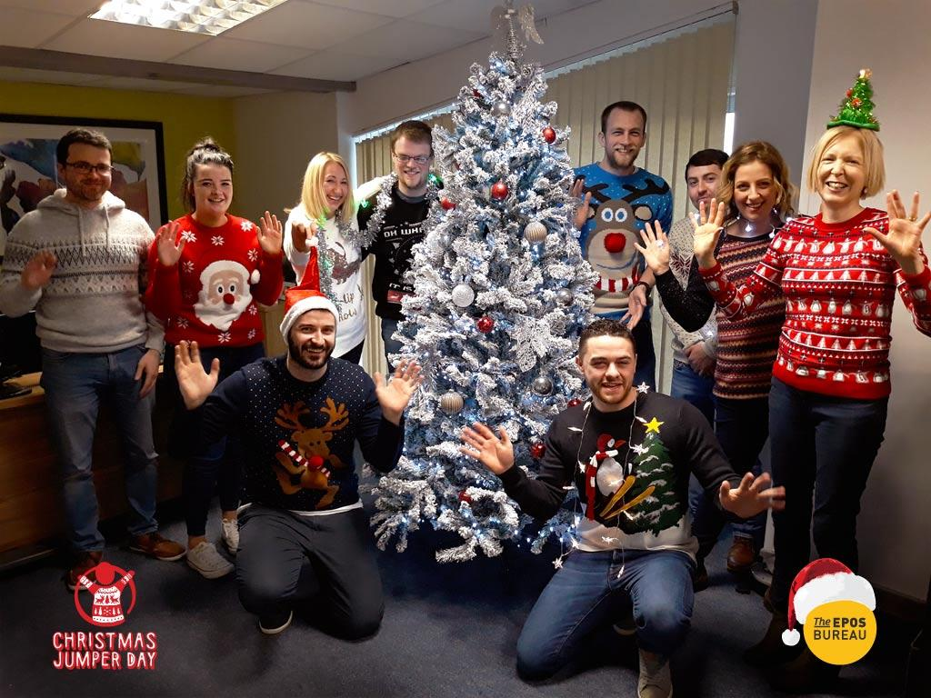 Save The Children Christmas Jumper Day At The Epos Bureau Team Picture
